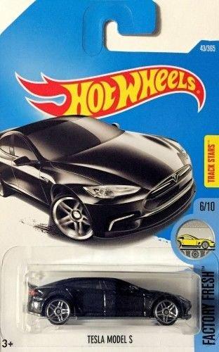 Hot Wheels, 2017 Factory Fresh, Tesla Model S [Black] 43/365 (Tesla Model Car compare prices)