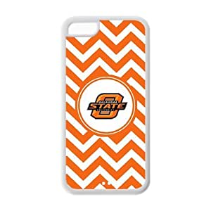 NCAA Oklahoma State Cowboys Logo White Orange Chevron iphone 6 4.7 Hard Silicon Case