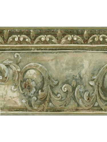 Architectural Scroll Wall Border 7 5 Yards Pre Pasted