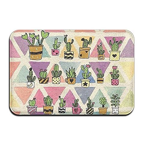 Green Love Cartoon Cactus Plants Personalized Door Mats - Love Door Mat