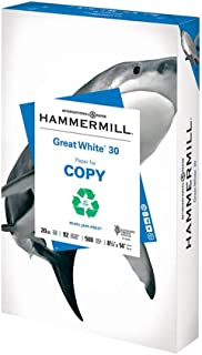 product image for Hammermill Printer Paper, Great White 30% Recycled Paper, 8.5 x 14 - 1 Ream (500 Sheets) - 92 Bright, Made in the USA
