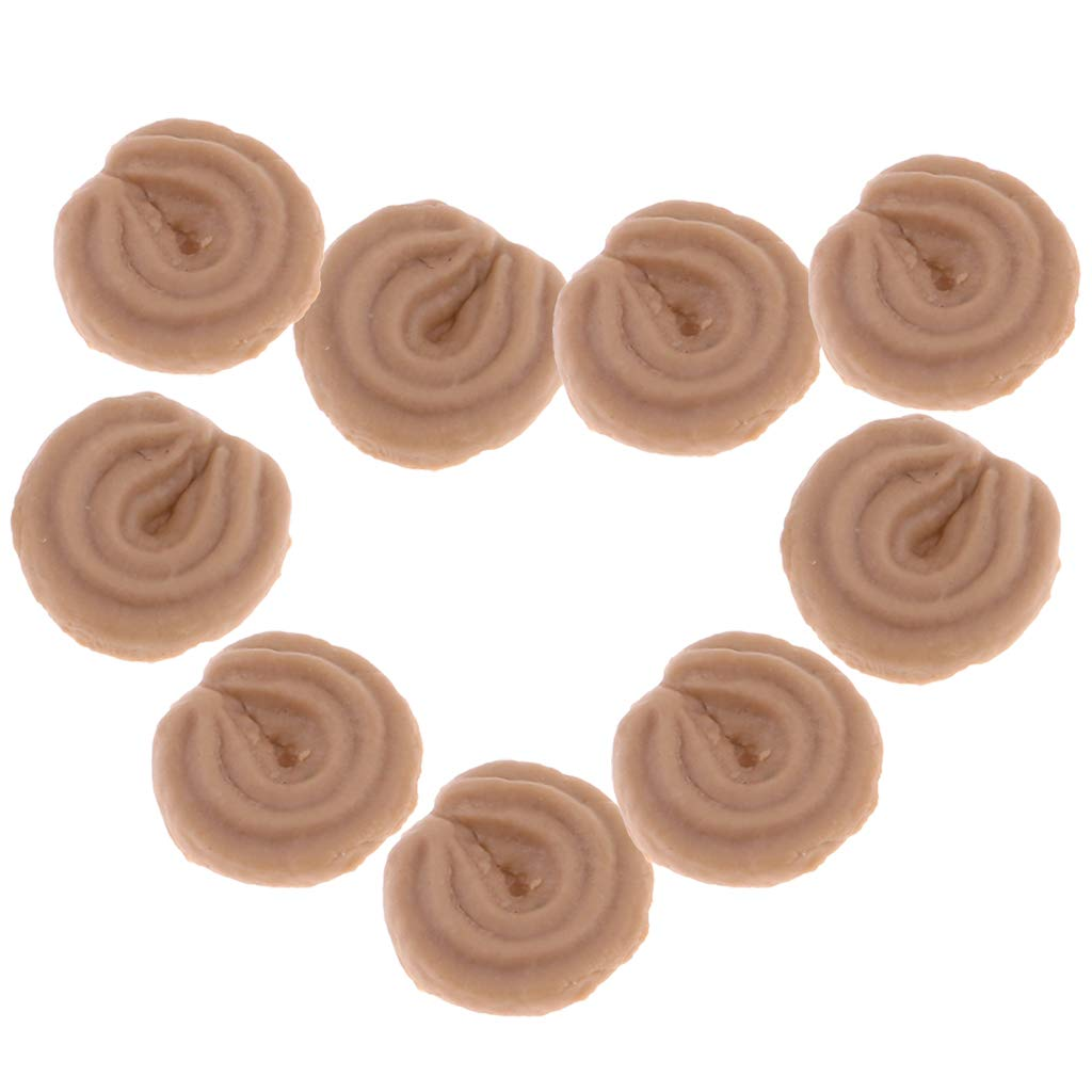 Homyl Miniature Essen Sortiert Winzige Kekse Waffeln F/ür 1:12 Puppenhaus Dekoration A