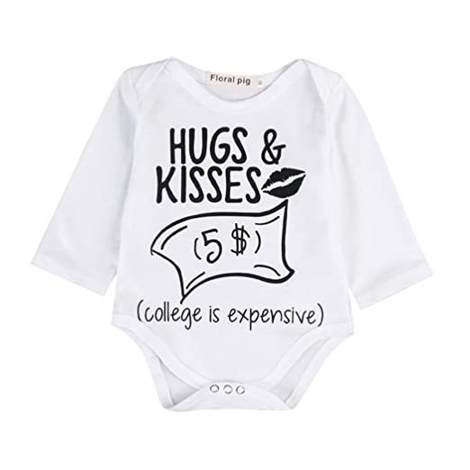 6a3d4c690919 Amazon.com  Pollyhb Baby Boy Girl Romper