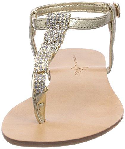 Tosca Blu Shoes COLUMBA - Sandalias de material sintético para mujer dorado - Gold (ORO C98)