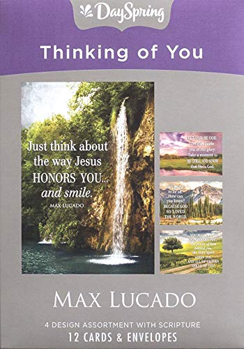 Max Lucado Boxed - Thinking of You - Inspirational Boxed Cards - Max Lucado - Let God Be God