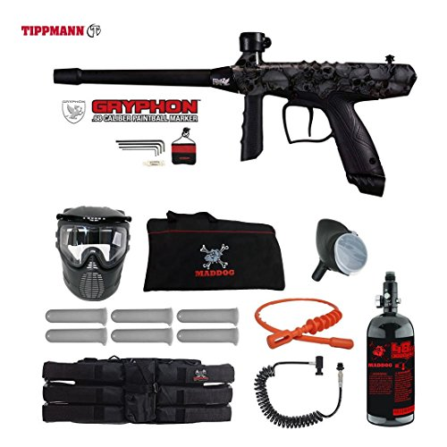 Tippmann Gryphon FX Corporal HPA Paintball Gun Package - Skull