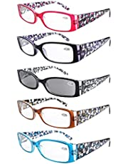 Eyekepper Readers 3 Pack Of Womens Reading Glasses With Beautiful Pattern And Soft Case For Ladies