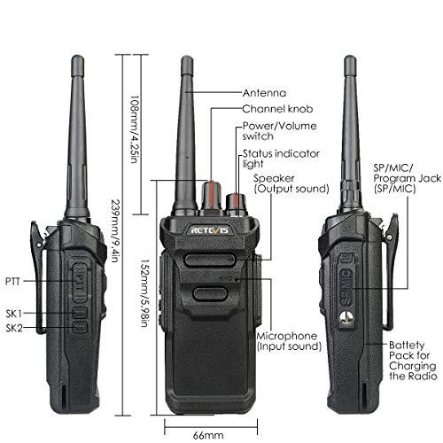 Retevis RT48 Walkie Talkie for Adults Long Range IP67 VOX Monitor Scrambler Security Walkie Talkies Waterproof (2 Pack) by Retevis (Image #2)