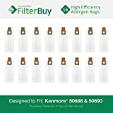 16 Kenmore 50688 & 50690 Allergen Vacuum Cleaner Bags. Designed...