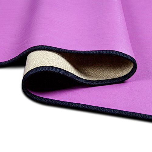 Body and Eco friendly Yoga Mat, AmoVee Natural Rubber Non Slip Portable Yoga Mat for Exercise, Pilates, Bikram