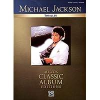Michael Jackson-Thriller-Piano Vocal Guitar-Music Book-Alfred's Classic Album Editions