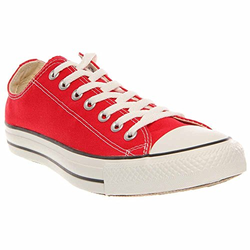 Converse Mens Chuck Taylor All Star Ox Red Fabric Fashion...