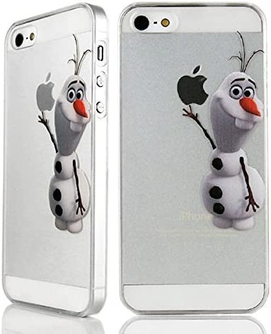 Coque transparente pour iPhone 5/5s Motif Disney/Olaf de La Reine des neiges