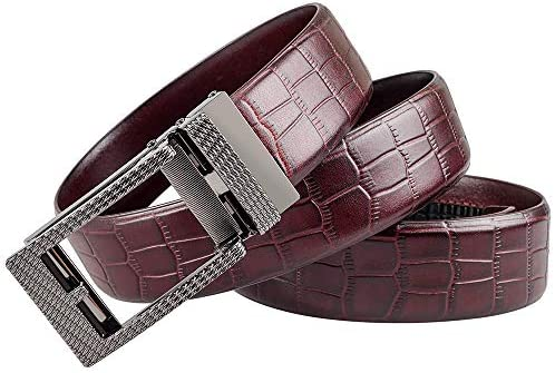Martino Mens Belt Suitable for Trousers Size 40 Leather Cowhide Casual Automatic Buckle Belt Dress Mens Belt