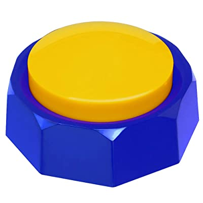 RIBOSY Recordable Talking Button - Now Record Any 30 Seconds Surprise Message (Yellow-Blue): Toys & Games