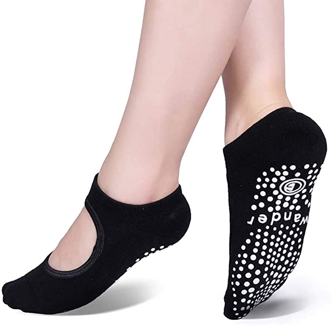 Amazon.com: Calcetines antideslizantes para yoga, con agarre ...