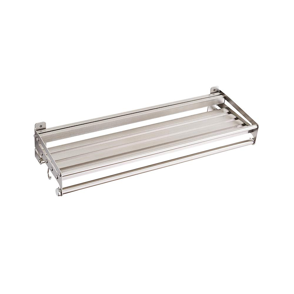 KES 24-Inch Kitchen Wall Mount Pot Pan Rack Wall Shelf SUS 304 Stainless Steel Rustproof Brushed, KUR208S60-2 KES Home