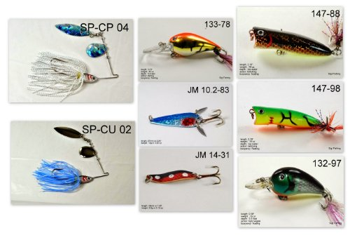 Akuna [WY] Pros' pick recommendation collection of lures for Bass, Panfish, Trout, Pike and Walleye fishing in Wyoming(Pan Fish 8-A)