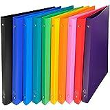 EXACOMPTA-Lote de 5 carpetas flexible de polipropileno 4 anillas, 15 mm, 20 mm, colores surtidos, sin selección