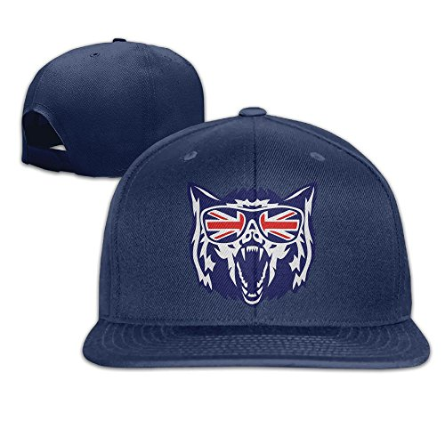 VPausy English Flag Glassea Wolf Head Retro falt Hat Adjustable Baseball - Glassea Sun