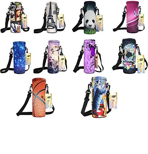 ICOLOR 750ml Water Bottle Carrier Holder Sleeve 24oz (750 Milliliter) w/Adjustable Shoulder Strap,Sling Insulated Outdoor Sports Bottle Bag Case Pouch Cover,Fits Bottle Diameter Less 3.14