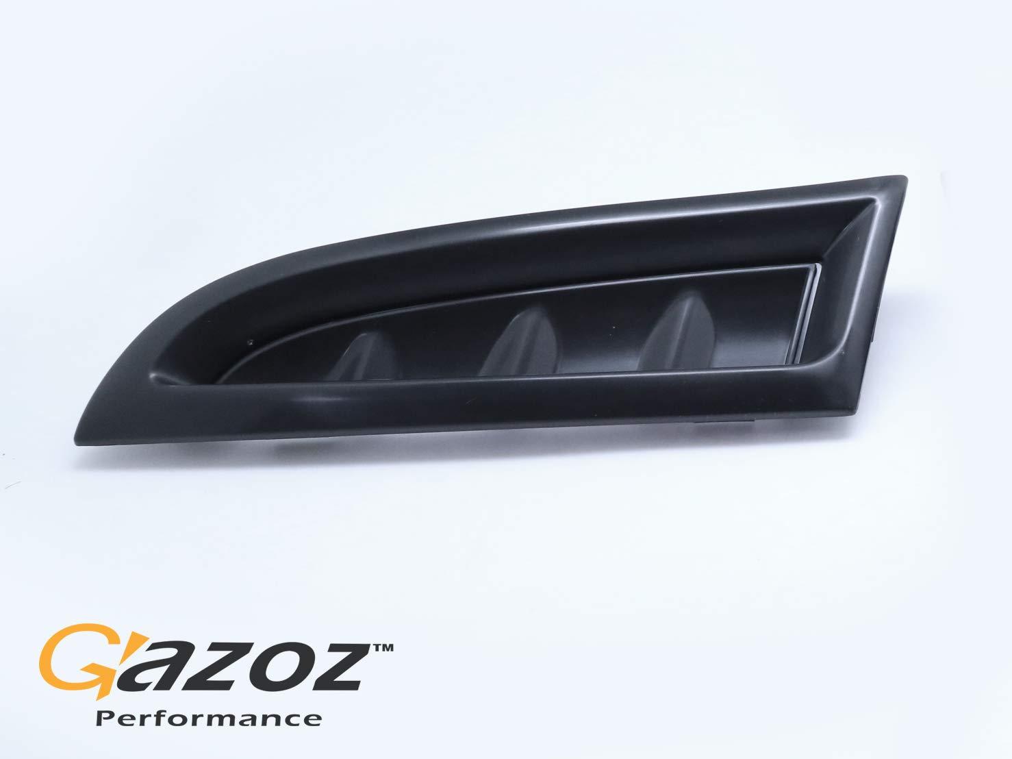 Black Prime Replacement Front Bumper Side Vent Covers RH+LH for 2006-2007 Subaru Impreza WRX STI 06 07 Subaru STi GDF GAZOZ PERFORMANCE Subaru Exterior Accessories