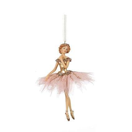 Decorazioni Natalizie Ballerine.Goodwill Set Di 2 Ballerine Rosa In Tulle Resina E Tessuto