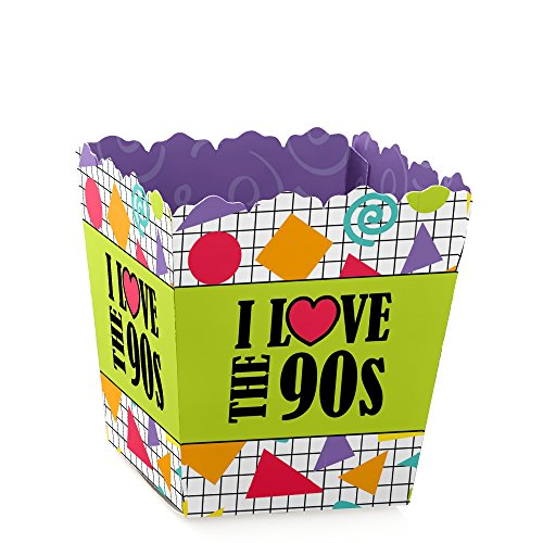 90's Throwback - Party Mini Favor Boxes - 1990s Party Treat Candy Boxes - Set of 12 ()