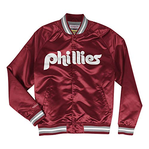 (Mitchell & Ness Philadelphia Phillies Men's Big Time Lightweight Satin Jacket )