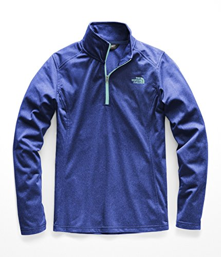 - The North Face Women Tech Glacier Quarter Zip - Sodalite Blue - M