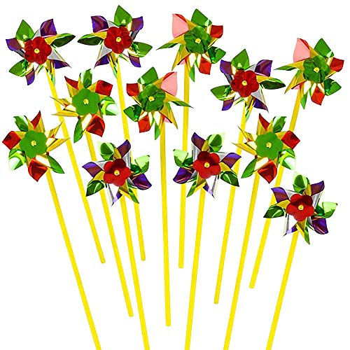 ArtCreativity 8-Point Pinwheels Set (Pack of 24) | Assorted Colors | Fun Carnival Toy and Party Favor | Amazing Gift Idea for Boys and Girls Ages 3+ -