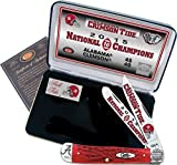 Case Cutlery AL15-CATRPB 2015 Alabama Football National Championship Case Red Bone Trapper Gift Set