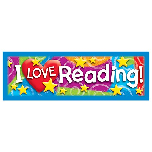Trend Enterprises Bookmarks - Trend Enterprises Inc. I LOVE Reading Stars 'n Swirls Bookmarks, 36 ct