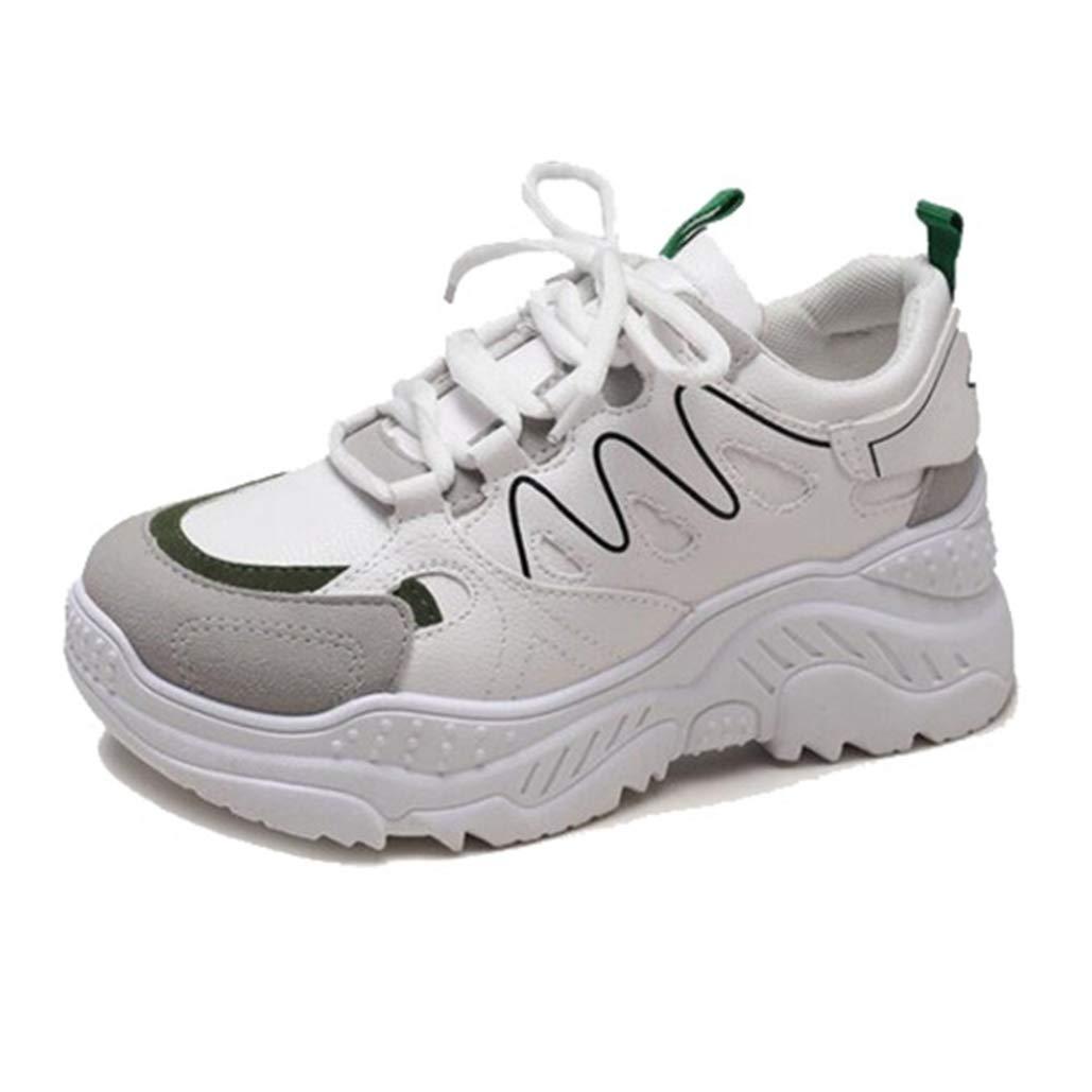 Zapatillas de Correr para Mujer Cómodas y Resistentes al Desgaste Zapatillas de Deporte Superiores con Cordones Antideslizantes Zapatillas de Deporte Informales: Amazon.es: Zapatos y complementos