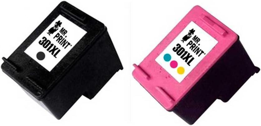 MR Print 2 Pack HP 301XL Cartucho de Tinta para HP CH561EE CH562EE CH563EE CH564EE V3(1 Negro + 1 Tricolor): Amazon.es: Electrónica