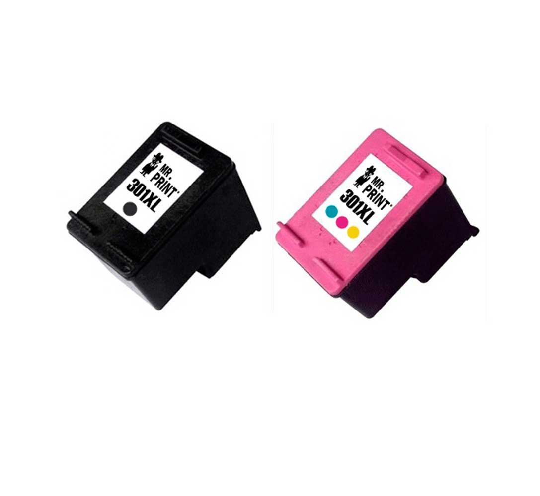 MR Print 2 Pack HP 301XL Cartucho de Tinta para HP CH561EE ...