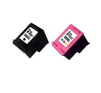 MR Print 2 Pack HP 301XL Cartucho de Tinta para HP CH561EE CH562EE ...