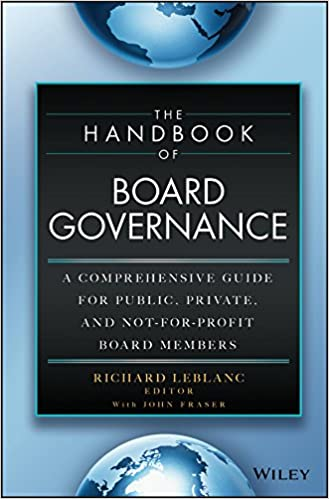 Amazon The Handbook Of Board Governance A Comprehensive Guide