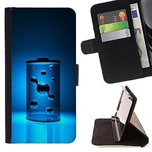 For Samsung Galaxy S5 V SM-G900 Case , Agua Energía Energía azul aguamarina- la tarjeta de Crédito Slots PU Funda de cuero Monedero caso cubierta de piel