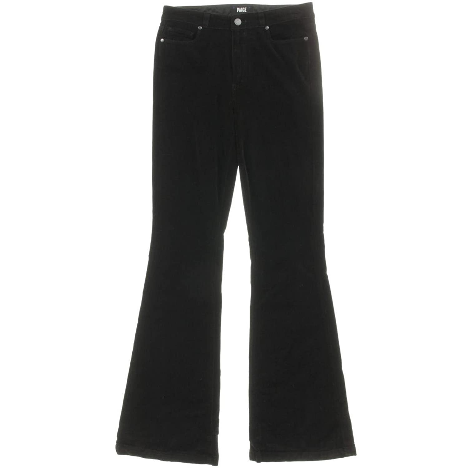 Paige Womens Bell Canyon Velvet High Rise Flare Jeans