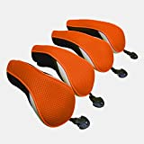 Golf Hybrid Club Head Covers Set of 4 with Interchangeable No. Tag UT Cover