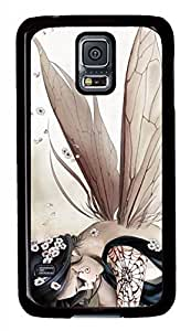 Anime Butterfly Elves Black Hard Case Cover Skin For Samsung Galaxy S5 I9600