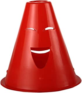 10Pcs Slalom Cône Patinage Cone Traffic/Formation Cône/Marqueurs/Barrière-Rouge