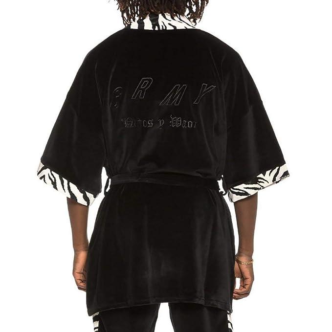 Grimey Kimono X Natos Y Waor Velour Negro L (Large): Amazon.es: Ropa y accesorios