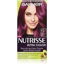 Garnier Nutrisse Ultra Color Nourishing Hair Color Creme, V2 Dark Intense Violet