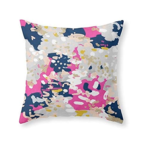 Sea Girl Soft Michel - Abstract, Girly, Trendy Art With Pink, Navy, Blush, Mustard For Cell Phones, Dorm Decor Etc Throw Pillow Indoor Cover Pillow Case For Your Home(18in x - Italian Mustard