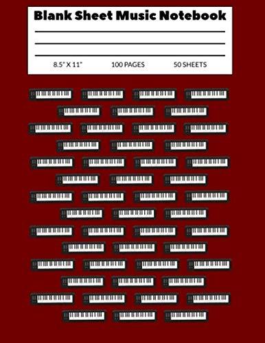 Blank Sheet Music Notebook  8.5