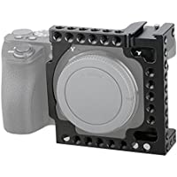 CAMVATE Aluminum Camera Cage for Sony A6500, A6000,A6300,ILCE-6000,ILCE-6300,NEX7 with Conversion 1/4-20 Adapter Hole(Black)