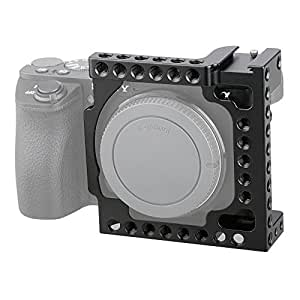 "CAMVATE Aluminum Camera Cage for Sony A6500, A6000,A6300,ILCE-6000,ILCE-6300,NEX7 with Conversion 1/4""-20 Adapter Hole(Black)"