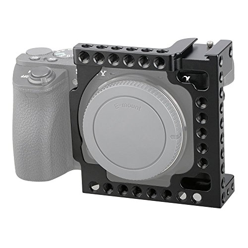 CAMVATE Aluminum Camera Cage for Sony A6500, A6000,A6300,ILCE-6000,ILCE-6300,NEX7 with Conversion 1/4